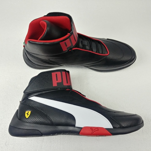 New Puma SF Kart Cat Mid III Black Mens Ferrari NWT